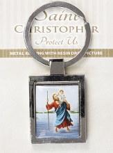 St Christopher Metal Keyring