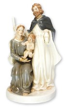 Glazed Porcelain Holy Family Nativity