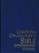 Christian Community Bible with Index, Blue Leather