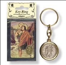 St Christopher Keyring with laminated leaflet