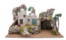 Large Arab Nativity Village Scene