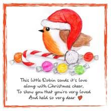 CR003 Christmas Cheer Robin Card