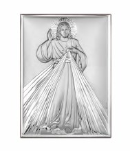 Divine Mercy Sterling Silver Icon (25 x 21 cm)