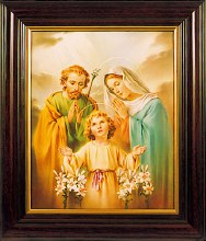 Holy Family Mahogany Framed Picture (45 x 35cm)