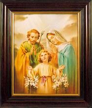 Holy Family Mahogany Framed Picture (45 x 35cm)