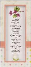 Serenity Prayer Glass Plaque