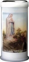 Lourdes Pillar Candle