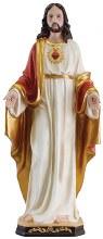 48563 Sacred Heart Fibreglass statue 60cm