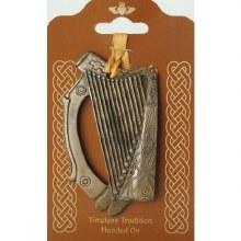 Irish Harp plaque (11 x 6cm)