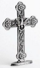 F4651 Confirmation Pewter Cross Standing 11cm