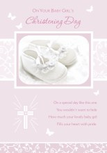 Christening Girl Card
