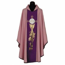 Pink and Purple Chasuble with IHS Symbol
