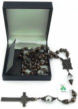 W71324 Bronze Book of Kells Rosary Beads