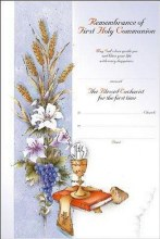 First Holy Communion Symbolic Certificate