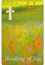 Thinking of You Laminated Prayer Card