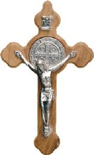 St Benedict Olive Wood Crucifix