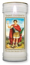 St Expedite Candle