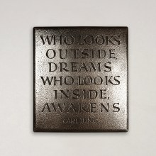 Who Looks Outside, Dreams Wild Goose Plaque