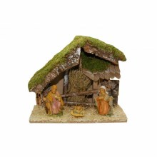 Nativity Scene with Shelter and Figures
