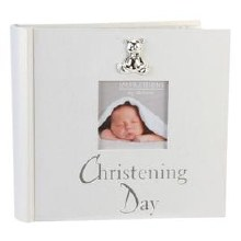 CG280A Christening Photo Album with Teddy Bear