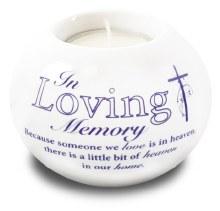 87788 In Loving memory Porcelain Tealight Holder