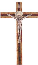 Two Tone Wooden Crucifix (20cm)