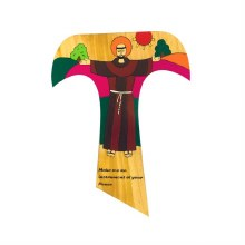 St Francis Tau Prayer Cross (25cm)