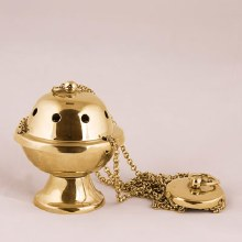 Gilt Finish Thurible (11cm x 8cm Diameter)