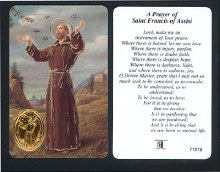 St Francis of Assisi Prayer Leaflet