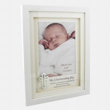 White Christening Photo frame