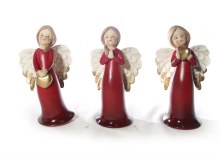 8919 Red Porcelain Angel 15cm
