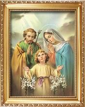 83303 Holy Family God framed Picture 25 x 30 cm