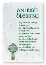 Irish Blessing Glass Plaque
