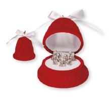 Red Velvet Bell Shaped Nativity (6cm)
