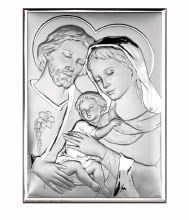 Holy Family Silver Icon (25 x 21 cm)