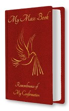 Red Souvenir of Confirmation Mass Book