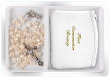 Pearl First holy Communion Rosary beads