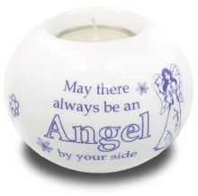 87780 Always an Angel Porcelain  Tealight Holder