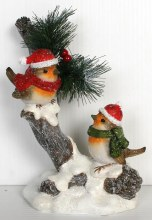 Christmas Robins Decoration (24cm)