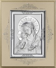 Sterling Silver Madonna and Child Icon