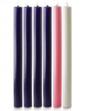 Advent candles pack of 6 (17 x 1.1/8)