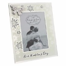 Wings of Love Wedding Day Photo Frame