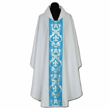 White Chasuble, Blue orphrey