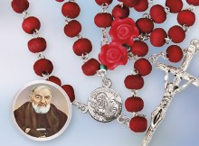 St Pio Wooden Perfumed Rosary Beads