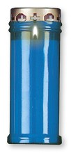 Blue Light Memorial Candle 7 inches