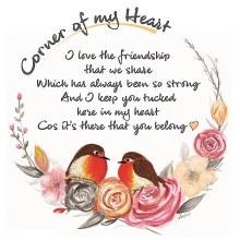 CHC008 Friendship Corner of My Heart Robin Card
