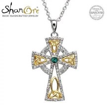 Celtic Cross with Swarovski Crystal Pendant