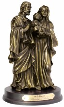 Holy Family Bronze Art Statue (20cm)