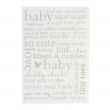 Bambino New Baby Wall Plaque Baby