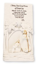 White Holy Family Plaque